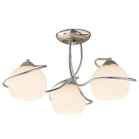 Потолочная люстра Citilux Лайма CL155131, 3xE27x100W, хром, белый, металл, стекло