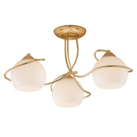 Потолочная люстра Citilux Лайма CL155132, 3xE27x100W, золото, белый, металл, стекло