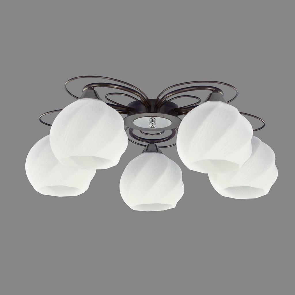 Потолочная люстра Citilux Николь CL168155, 5xE27x75W, венге, белый, металл, стекло - фото 3