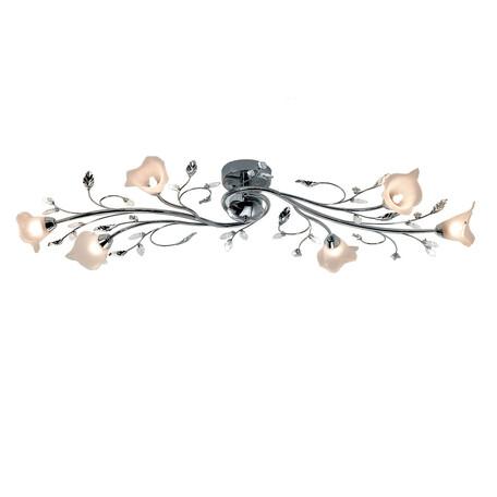 Потолочная люстра Citilux Ода Хром CL209161, 6xG9x60W, хром, белый, металл со стеклом/хрусталем, стекло