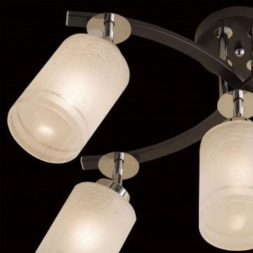 Потолочная люстра с регулировкой направления света Citilux Фортуна CL156151, 5xE27x75W, венге, хром, белый, металл, стекло - миниатюра 4