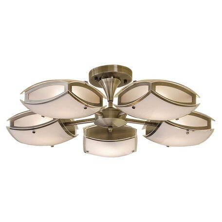 Потолочная люстра с регулировкой направления света Citilux Берген CL161153, 5xE27x75W, бронза, белый, металл, стекло