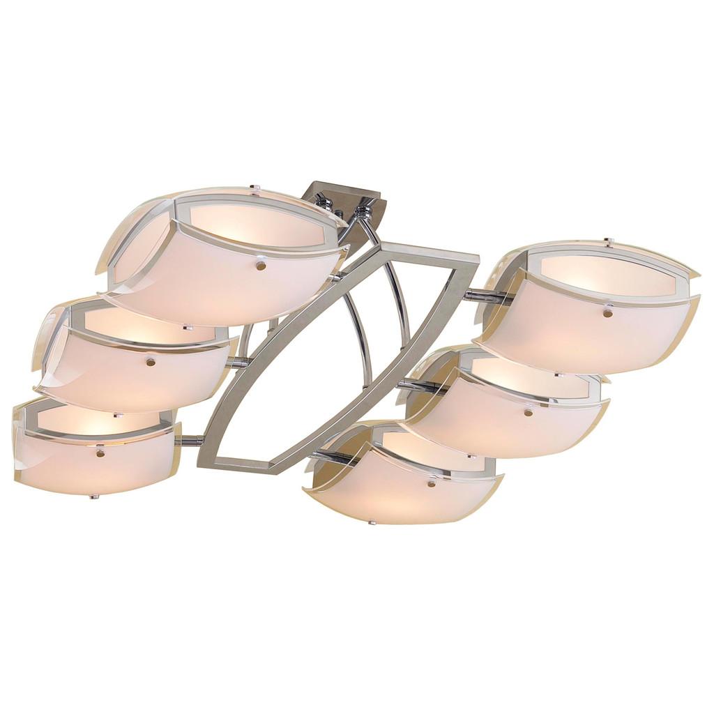Потолочная люстра с регулировкой направления света Citilux Берген CL161161, 6xE27x75W, хром, белый, металл, стекло - фото 1