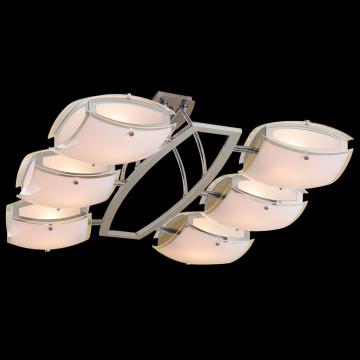 Потолочная люстра с регулировкой направления света Citilux Берген CL161161, 6xE27x75W, хром, белый, металл, стекло - миниатюра 2