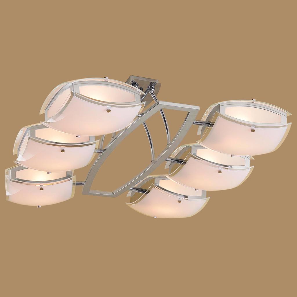 Потолочная люстра с регулировкой направления света Citilux Берген CL161161, 6xE27x75W, хром, белый, металл, стекло - фото 3