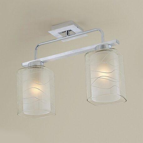 Потолочный светильник Citilux Румба CL159120, 2xE27x75W, белый, прозрачный, металл, стекло