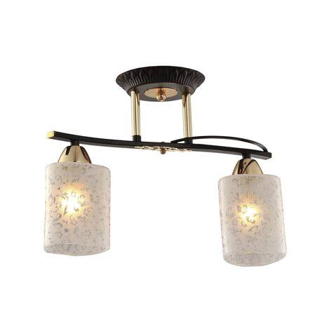 Потолочный светильник Citilux Мотив CL166121, 2xE14x60W, венге, белый, металл, стекло