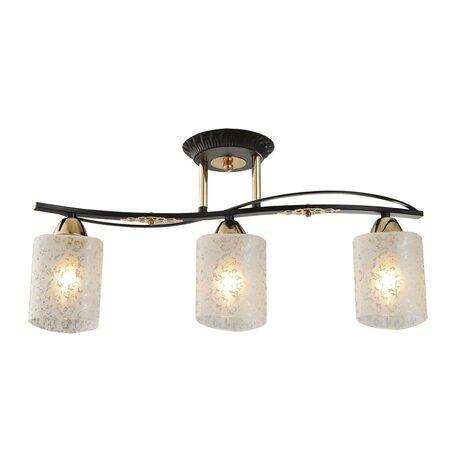 Потолочный светильник Citilux Мотив CL166131, 3xE14x60W, венге, белый, металл, стекло