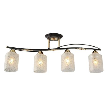 Потолочный светильник Citilux Мотив CL166141, 4xE14x60W, венге, белый, металл, стекло