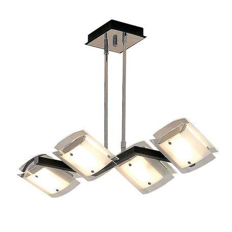 Потолочный светильник с регулировкой направления света на телескопической штанге Citilux Сантона Венго CL210145, 4xG9x40W, венге, хром, белый, металл, стекло