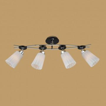 Потолочный светильник с регулировкой направления света Citilux Димона CL148141, 4xE27x75W, хром, черный, белый, металл, стекло - миниатюра 3
