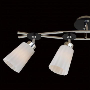 Потолочный светильник с регулировкой направления света Citilux Димона CL148141, 4xE27x75W, хром, черный, белый, металл, стекло - миниатюра 4
