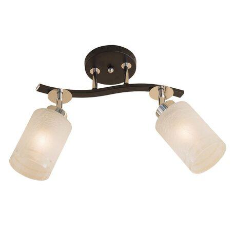 Потолочный светильник с регулировкой направления света Citilux Фортуна CL156121, 2xE27x75W, венге, хром, белый, металл, стекло