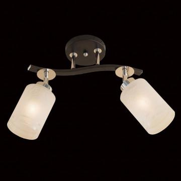Потолочный светильник с регулировкой направления света Citilux Фортуна CL156121, 2xE27x75W, венге, хром, белый, металл, стекло - миниатюра 2