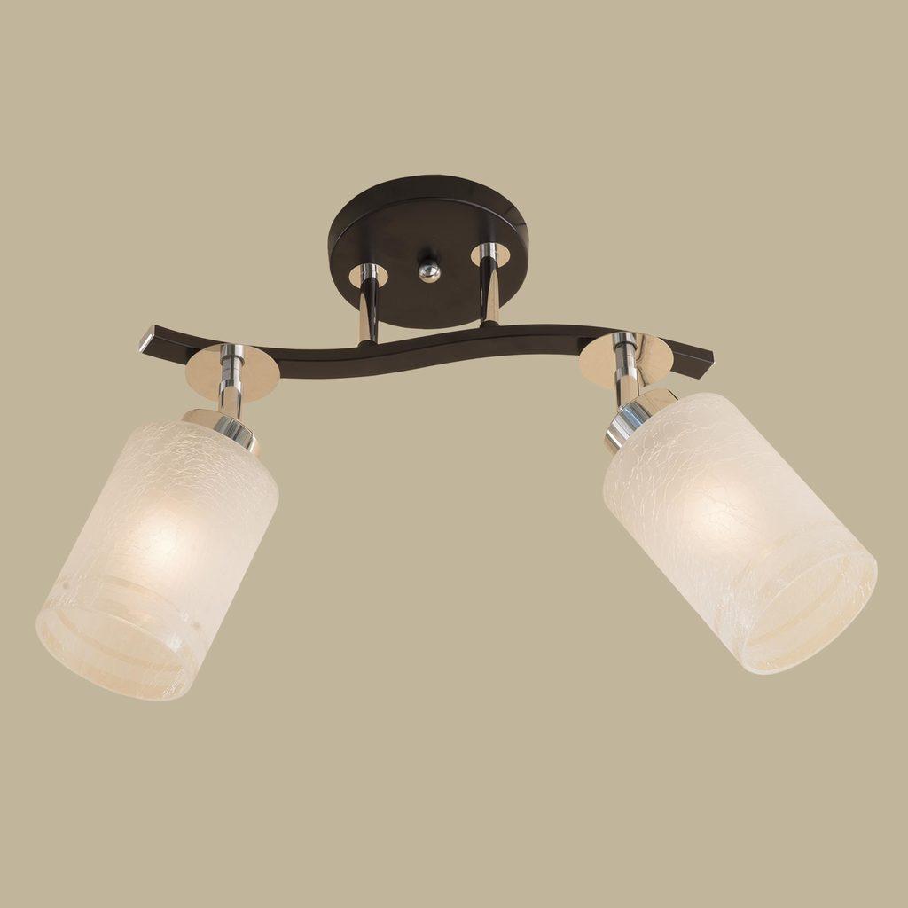Потолочный светильник с регулировкой направления света Citilux Фортуна CL156121, 2xE27x75W, венге, хром, белый, металл, стекло - фото 3
