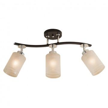 Потолочный светильник с регулировкой направления света Citilux Фортуна CL156131, 3xE27x75W, венге, хром, белый, металл, стекло