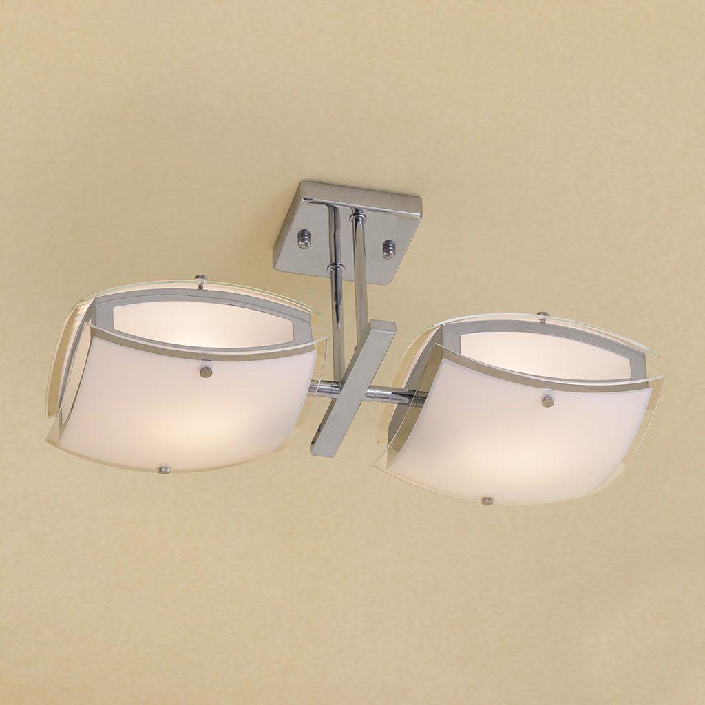 Потолочный светильник с регулировкой направления света Citilux Берген CL161121, 2xE27x75W, хром, белый, металл, стекло - фото 1
