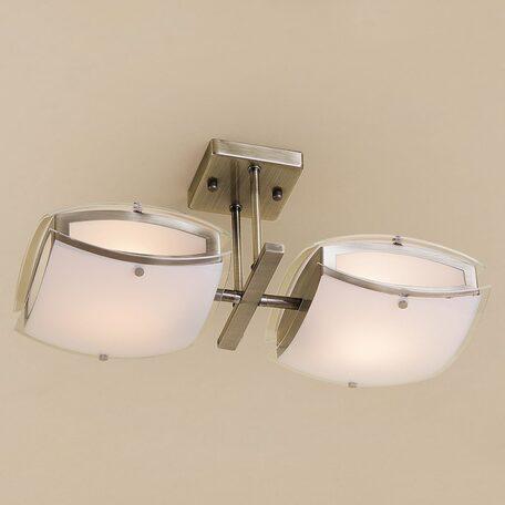 Потолочный светильник с регулировкой направления света Citilux Берген CL161123, 2xE27x75W, бронза, белый, металл, стекло