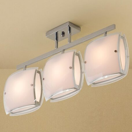 Потолочный светильник с регулировкой направления света Citilux Берген CL161231, 3xE27x75W, хром, белый, металл, стекло