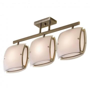 Потолочный светильник с регулировкой направления света Citilux Берген CL161233, 3xE27x75W, бронза, белый, металл, стекло