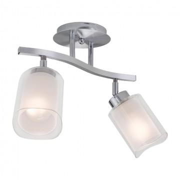 Потолочный светильник с регулировкой направления света Citilux Аэлита CL169121, 2xE27x75W, белый, хром, прозрачный, металл, стекло