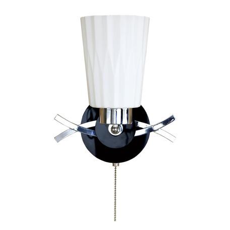 Бра с регулировкой направления света Citilux Димона CL148311, 1xE27x75W, черный, белый, металл, стекло