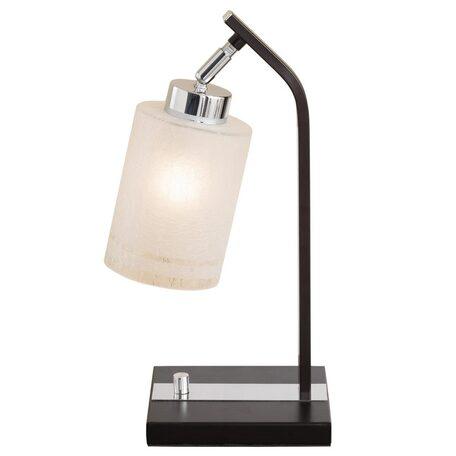 Настольная лампа Citilux Фортуна CL156811, 1xE27x75W, венге, белый, металл, стекло