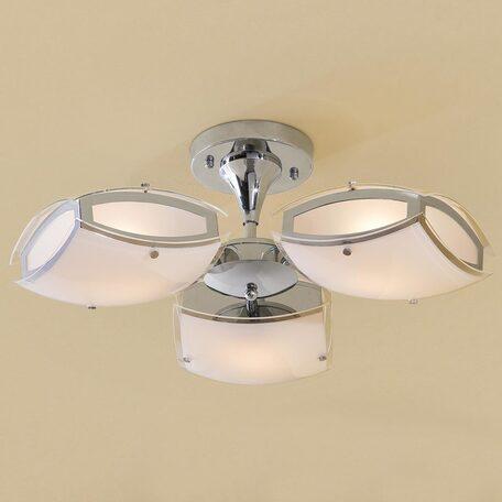 Потолочная люстра с регулировкой направления света Citilux Берген CL161131, 3xE27x75W, хром, белый, металл, стекло