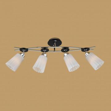 Потолочный светильник с регулировкой направления света Citilux Димона CL148141, 4xE27x75W, черный, белый, металл, стекло - миниатюра 3