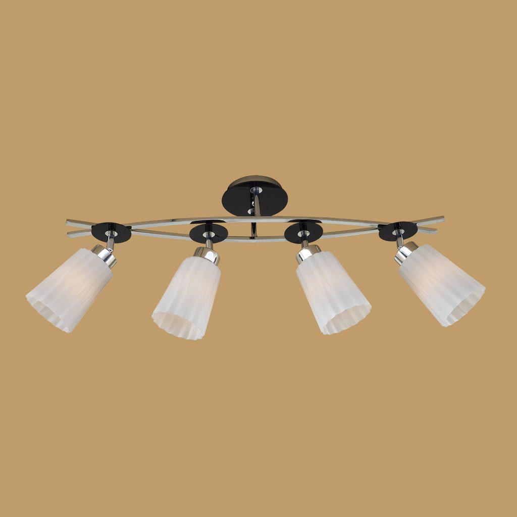 Потолочный светильник с регулировкой направления света Citilux Димона CL148141, 4xE27x75W, черный, белый, металл, стекло - фото 3