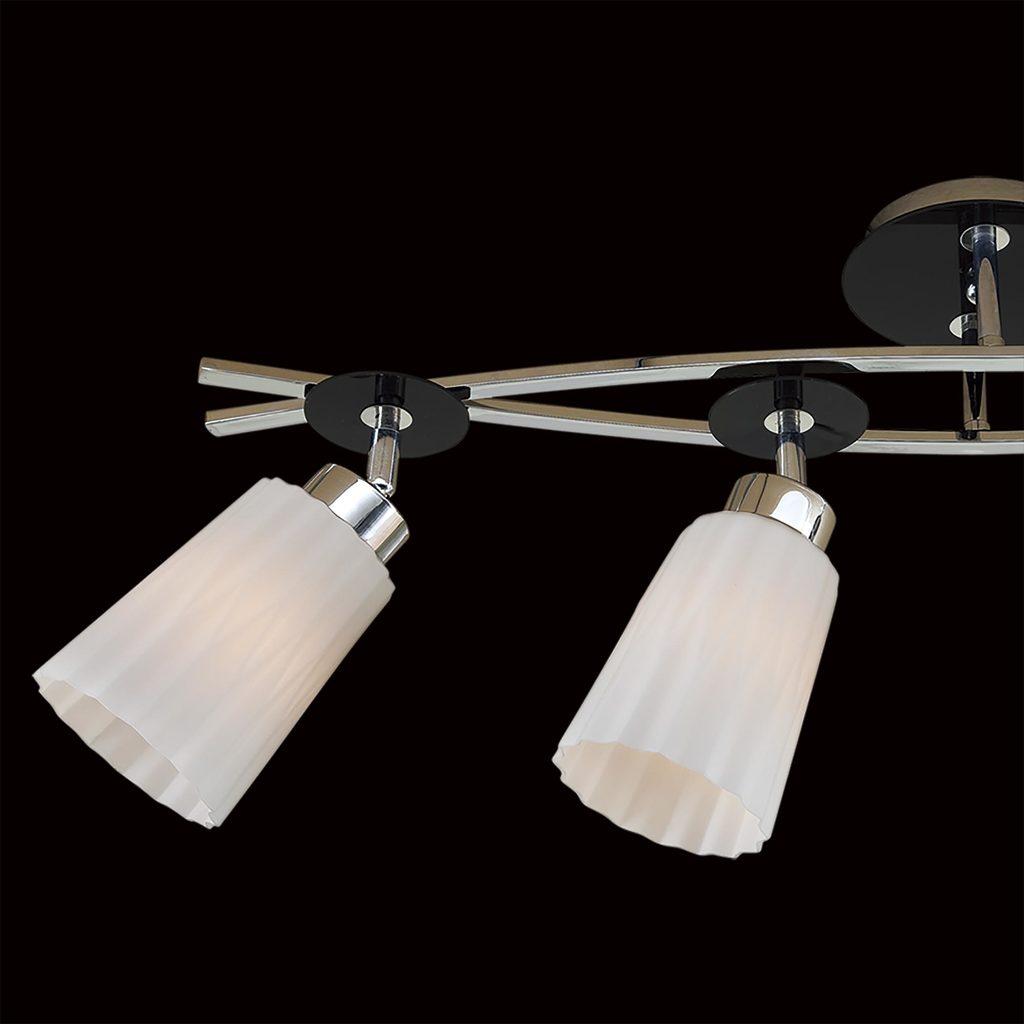 Потолочный светильник с регулировкой направления света Citilux Димона CL148141, 4xE27x75W, черный, белый, металл, стекло - фото 4