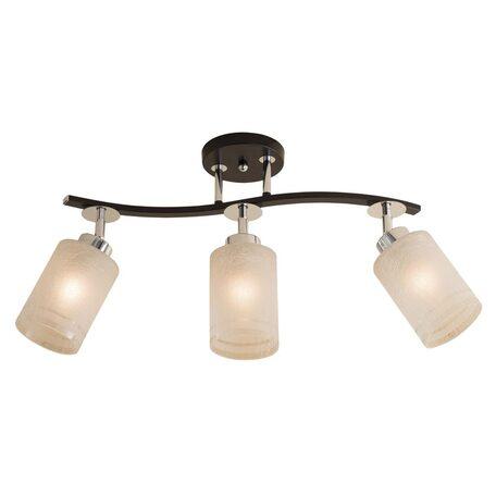 Потолочный светильник с регулировкой направления света Citilux Фортуна CL156131, 3xE27x75W, венге, белый, металл, стекло