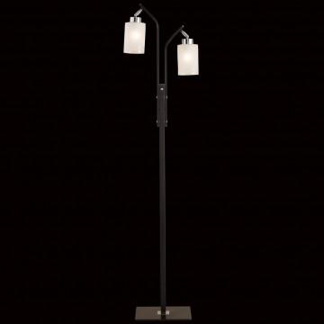 Торшер Citilux Фортуна CL156921, 2xE27x75W, венге, хром, белый, металл, стекло - миниатюра 2
