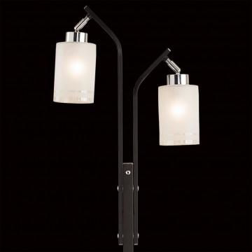 Торшер Citilux Фортуна CL156921, 2xE27x75W, венге, хром, белый, металл, стекло - миниатюра 4