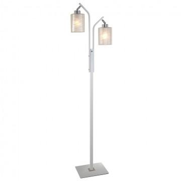Торшер Citilux Румба CL159920, 2xE27x75W, белый, хром, прозрачный, металл, стекло