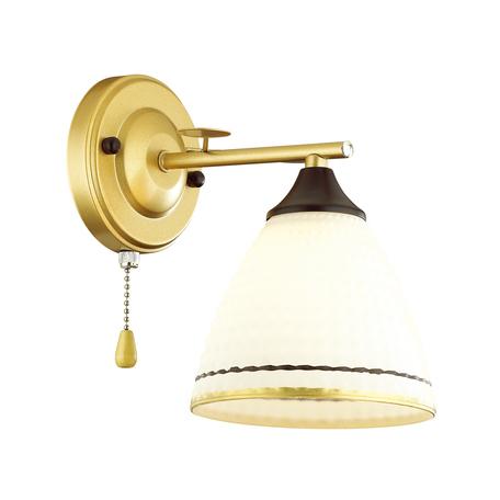 Бра Lumion Comfi Becky 4544/1W, 1xE27x60W, матовое золото, белый, металл, стекло