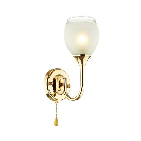Бра Lumion Comfi Jolene 4546/1W, 1xE27x60W, золото, белый, металл, стекло