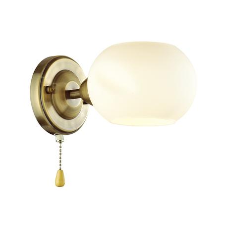 Бра Lumion Comfi Penelopa 4549/1W, 1xE14x40W, бронза, белый, металл, стекло