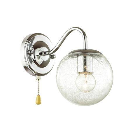 Бра Lumion Comfi Darcy 4551/1W, 1xE27x60W, хром, прозрачный, металл, стекло