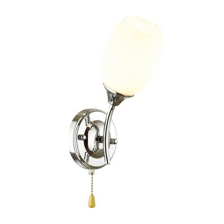 Бра Lumion Comfi Alexis 4552/1W, 1xE27x60W, хром, белый, металл, стекло