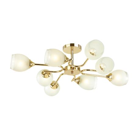 Потолочная люстра Lumion Comfi Jolene 4546/8C, 8xE27x60W, золото, белый, металл, стекло