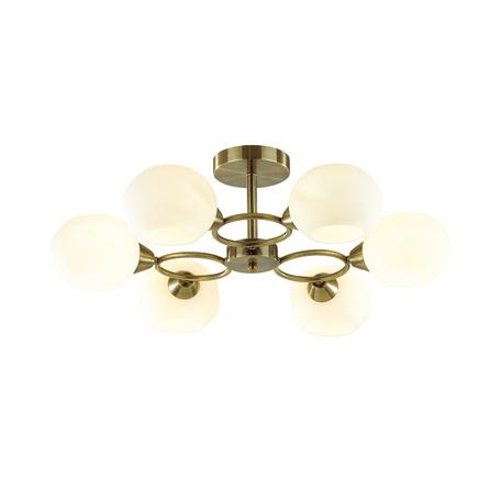 Потолочная люстра Lumion Comfi Penelopa 4549/6C, 6xE14x60W, бронза, белый, металл, стекло