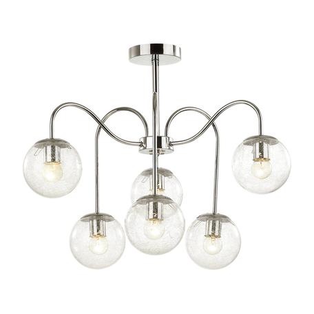 Потолочная люстра Lumion Comfi Darcy 4551/6C, 6xE27x60W, хром, прозрачный, металл, стекло