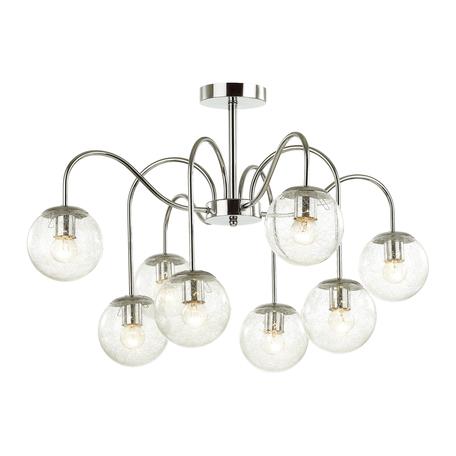 Потолочная люстра Lumion Comfi Darcy 4551/8C, 8xE27x60W, хром, прозрачный, металл, стекло