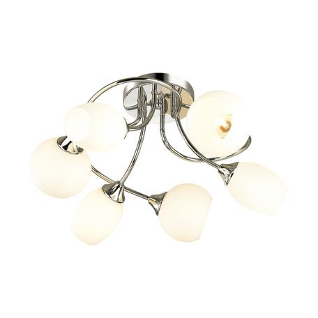 Потолочная люстра Lumion Comfi Alexis 4552/6C, 6xE27x60W, хром, белый, металл, стекло