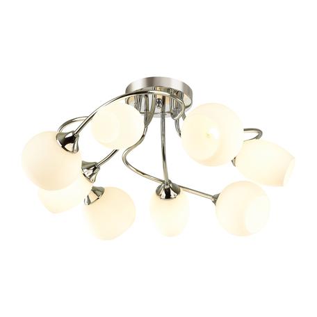 Потолочная люстра Lumion Comfi Alexis 4552/8C, 8xE27x60W, хром, белый, металл, стекло
