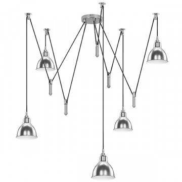 Люстра-паук Lightstar Acrobata 761054, 5xE14x40W, хром, металл