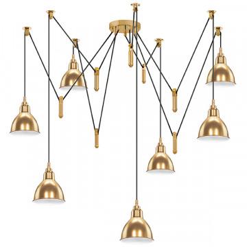 Люстра-паук Lightstar Acrobata 761078, 7xE14x40W, бронза, металл