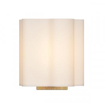 Настенный светильник Lightstar Nubi Legno 802615, 1xE14x40W, коричневый, белый, дерево, стекло