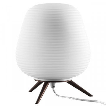Настольная лампа Lightstar Arnia 805911, 1xE27x40W, коричневый, белый, металл, стекло